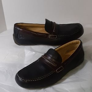 10.5 M Sperry Top-Sider blk/bro leather drivers